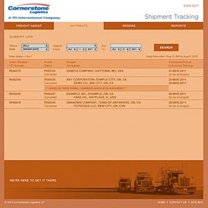 Shipment Tracking sample